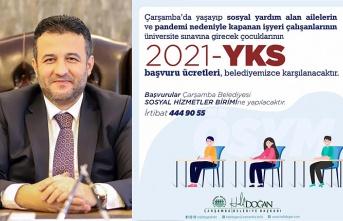 Çarşamba Belediyesi'nden 2021 YKS'ye girecek öğrencilere destek