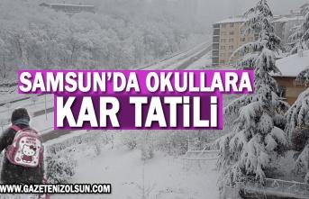 Kar yağışı nedeniyle Samsun'da Okullara Kar Tatili