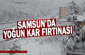 Samsun'da Yoğun Kar Fırtınası, 16 Şubat Samsun Hava Durumu