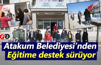 Atakum Belediyesi'nden eğitime destek sürüyor