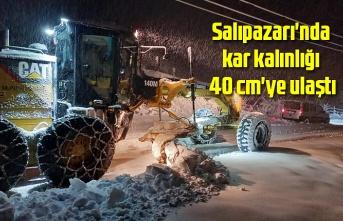Samsun'un o ilçesinde kar kalınlığı 40 cm'ye ulaştı