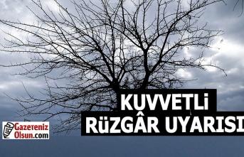 Samsun'da Kuvvetli Rüzgar Uyarısı