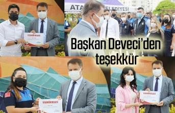 Başkan Deveci'den belediye emekçilerine teşekkür