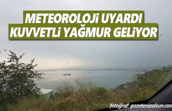 Samsun'da sağanak yağış uyarısı!