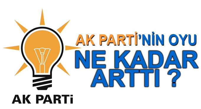 AK Parti'nin oy oranının 3 puan arttı