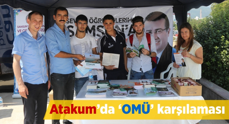 Atakum'da 'OMÜ' karşılaması