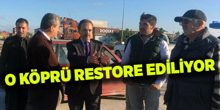 Bafra Çetinkaya Köprüsü restorasyonu başladı