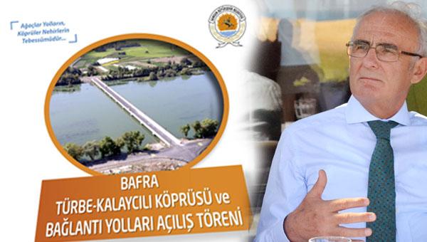 Bafra Türbe - Kalaycılı Köprüsü açılıyor