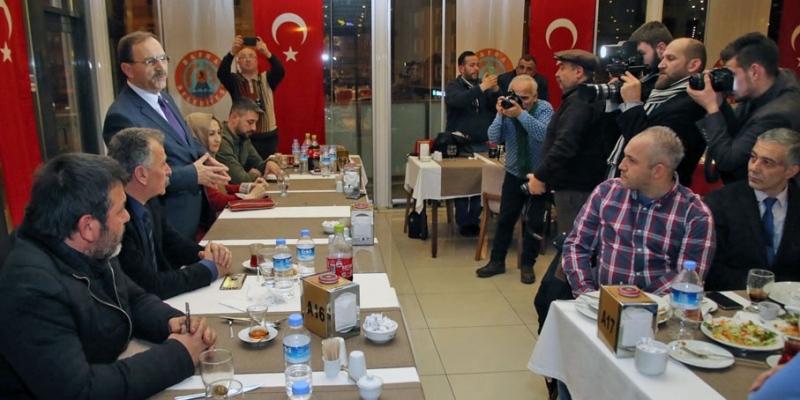 Başkan Şahin basın mensuplarıyla biraraya geldi