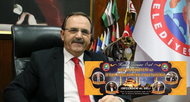 Başkan Şahin'den Kadir Gecesi daveti