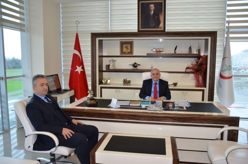 Başkan Topaloğlu'ndan Başhekim İsmailoğlu'na ziyaret