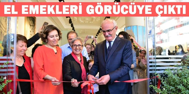 Başkan Yılmaz, Kadınların Mozaik Sergisi'ni açtı