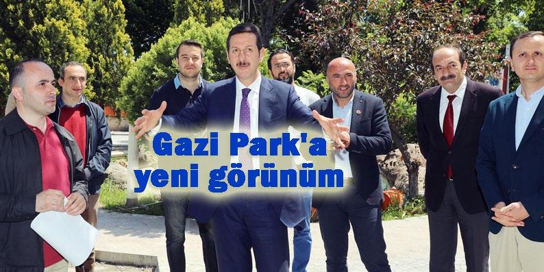 İlkadım Belediyesi Gazi Parkı güzelleştiriyor