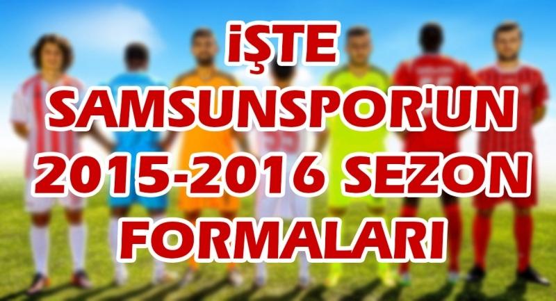 İşte Samsunspor'un 2015-2016 sezon formaları