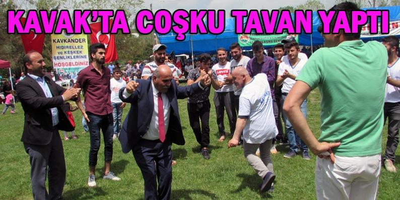 Kavak'ta Hıdırellez ve Keşkek Festivali coşkusu