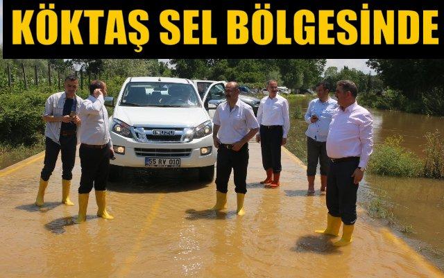 Milletvekili Köktaş Çarşamba'da Su Baskını Bölgesinde