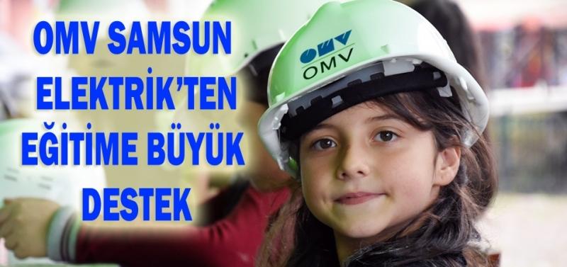 OMV Samsun Elektrik'ten eğitime büyük destek