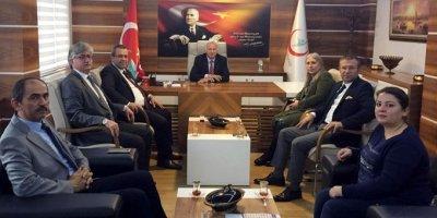Sağlık-Sen Samsun Şube'den Genel Sekreter Kılıç'a ziyaret