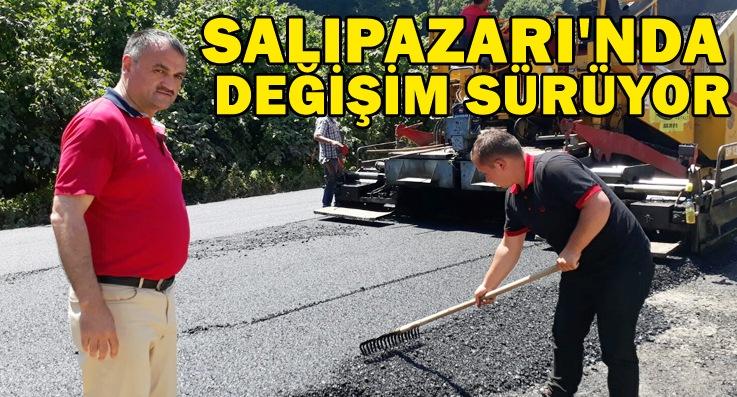 Salıpazarı'nda asfalt seferberliği