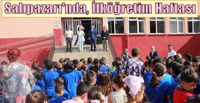 Salıpazarı'nda, İlköğretim Haftası dolayısıyla program düzenlendi
