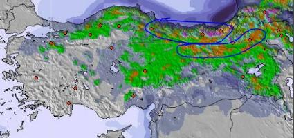 Samsun'da Kar Yağışı başladı, Samsun'da Kar Kalınlığı 15 cm'e ulaştı!
