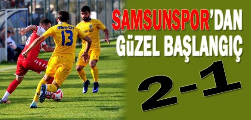 Samsunspor ilk hazırlık maçını 2-1 kazandı
