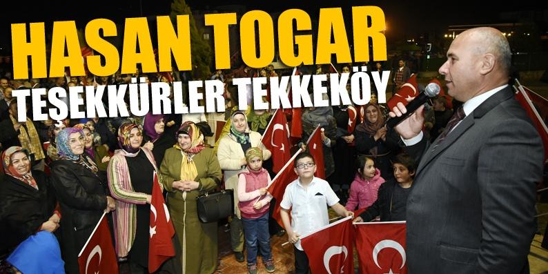 Tekkeköy'de bayram havası, Başkan Togar teşekkür etti