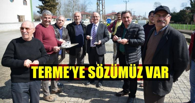 Terme Ahmetbey Mahallesi'nden Başkan Kul'a kahve ikramı
