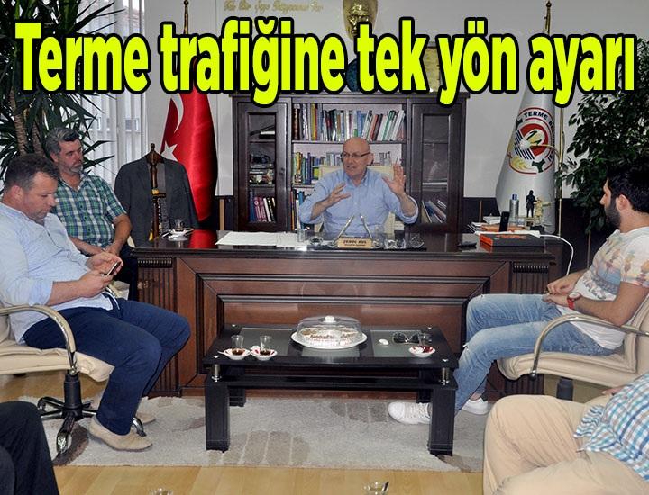 Terme Atatürk Caddesi'nde tek yön uygulaması yapılacak