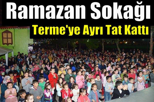 Terme'de Ramazan etkinlikleri hız kesmiyor
