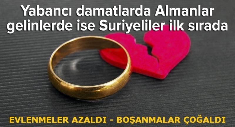 Türkiye'de evlenmeler azaldı boşanmalar çoğaldı