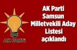 AK Parti Samsun Milletvekili Aday Listesi