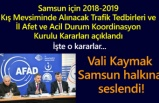 Samsun'da kışa hazırlık toplantısında önemli kararlar alındı!