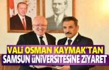 Osman Kaymak'tan Rektör Aydın'a Ziyaret