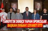 Türkiye'de Derece Yapan Sporcular Başkan Doğan'ı Ziyaret Etti