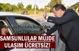 Samsun Büyükşehir Belediyesi'nden bayram da kesintisiz hizmet