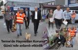 Terme'de Hayvanları Koruma Günü'nde anlamlı etkinlik