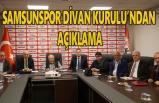 Samsunspor divan kurulu son yaşanan olayları değerlendirdi