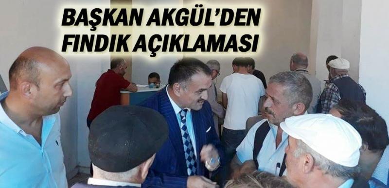 Başkan Akgül fındık üreticileri ile bir araya geldi