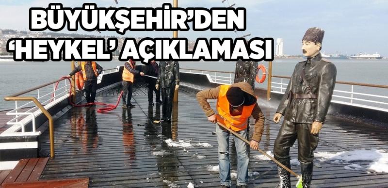 Büyükşehir'den 'Atatürk ve 18 silah arkadaşı heykelleri' açıklaması