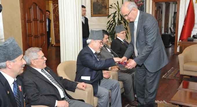 Gazi ve Şehit Dernekleri Başkan Yılmaz'ı ziyaret etti