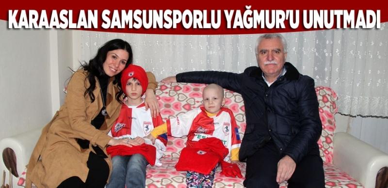 Karaaslan Samsunspor aşığı Yağmur'u ziyaret etti