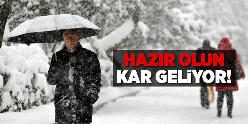 Samsun'a kar yağışı uyarısı!