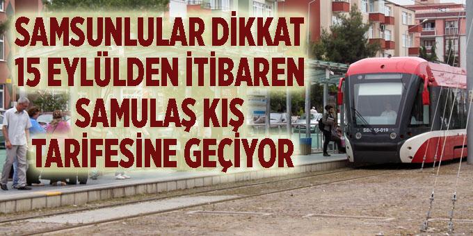 Samsun'da son tramvay 23:45'te hareket edecek