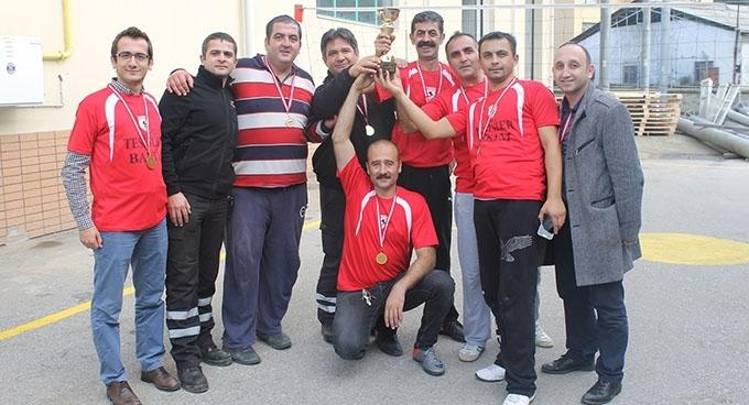 Samulaş' ta voleybol turnuvası şampiyonu Tesisler Bakım ekibi oldu