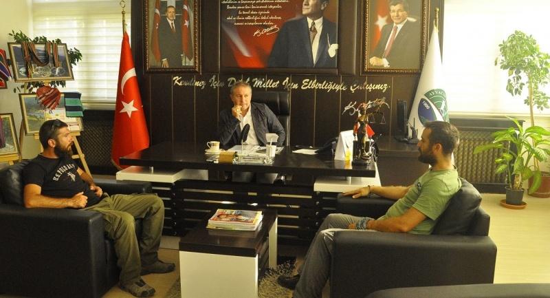 TRT Ayvacık'ta belgesel çekimi yaptı