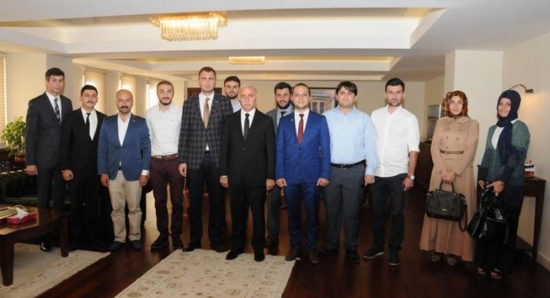 TÜGVA Samsun Şube Başkanı ve Yönetim Kurulu Üyeleri Valı Şahin'i ziyaret etti