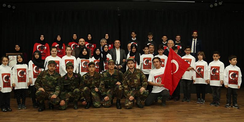 'Türk ve muhacir çocuklar el ele zaferi kutladı'