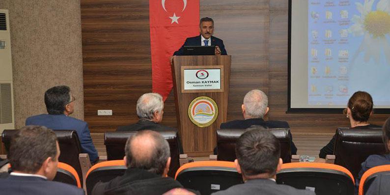Vali Kaymak Karadeniz Tarımsal Araştırma Enstitüsü Müdürlüğü'nü ziyaret etti