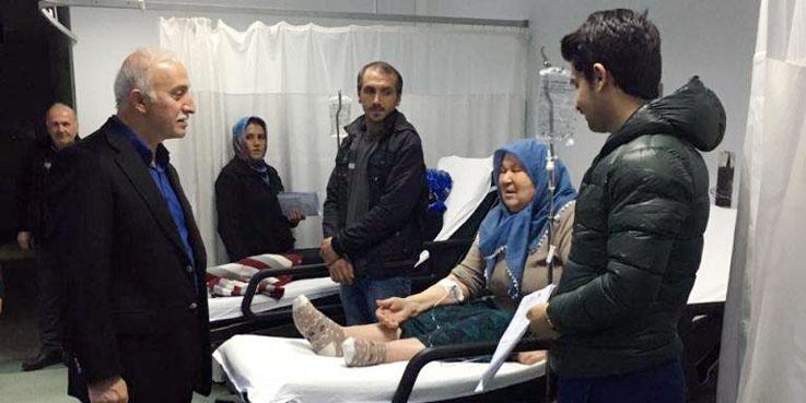 Vali Şahin Eğitim ve Araştırma Hastanesi Acil Servis'te tedavi gören hastaları ziyaret etti